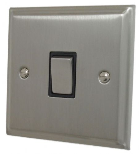 G&H DSN301 Deco Plate Satin Nickel 1 Gang 1 or 2 Way Rocker Light Switch